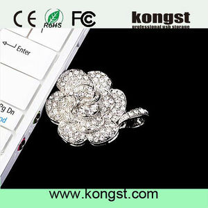Best Selling Gadgets USB 2.0 100%FULL Capacity crystal/jeweled Wholesale Price USB Jewel USB Housing