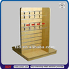 TSD-W449 Custom retail store 3 way floor slatwall display shelves,counter hook display stand,supermarket goods display