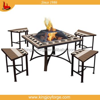 Kingjoy-mesa Pozo De Fuego Juego De Muebles De Patio/exterior ...