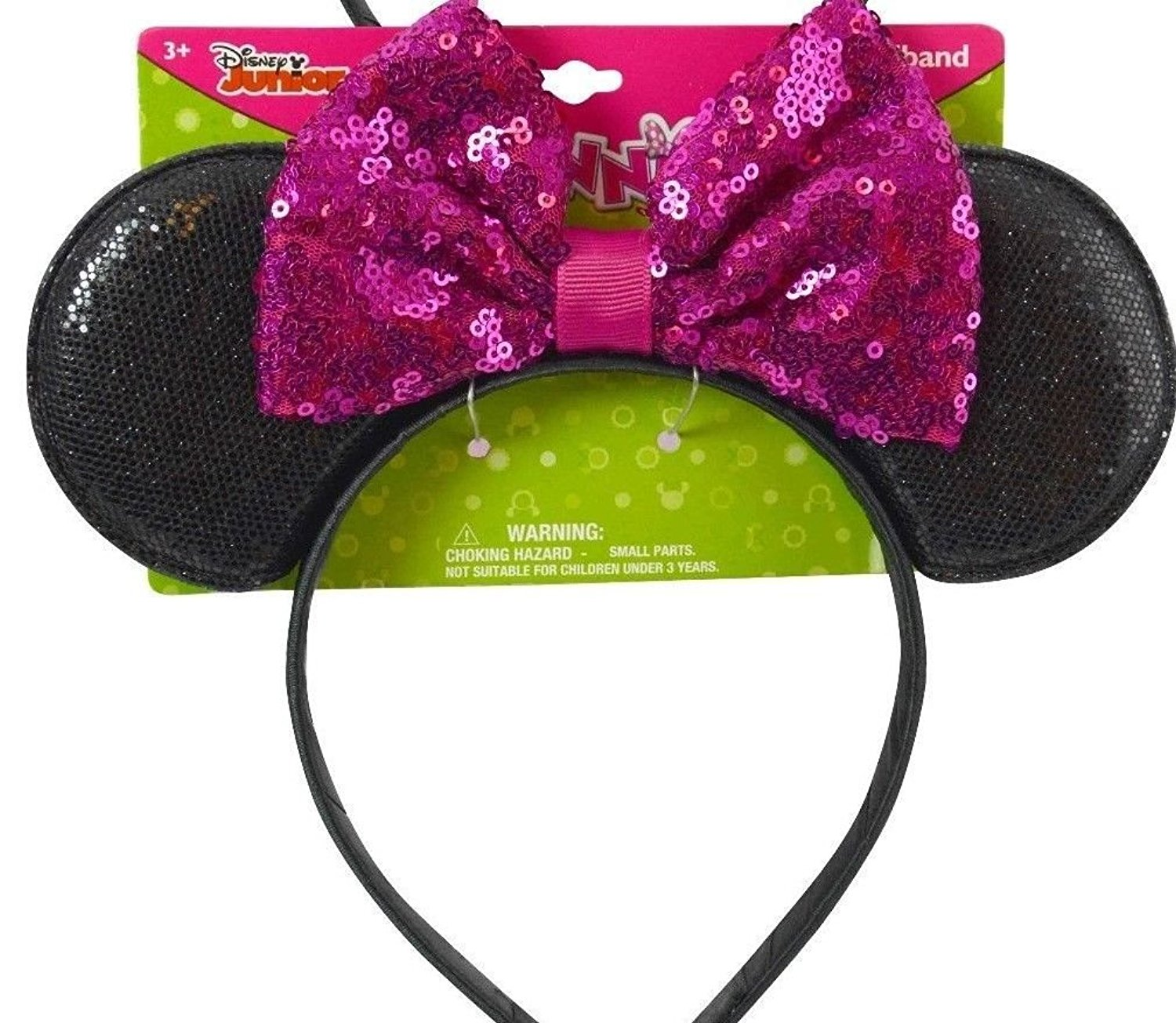 bd47a95c3c9 Buy Disney Minnie Mouse Headband Sequin pink Black Mouse Ears in ...