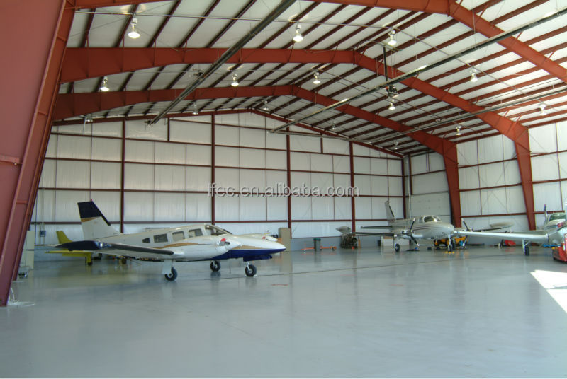 Low price steel construction aircraft hangar for maintenance room