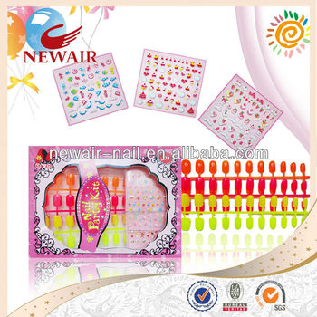 Vivi Nail Art Kit With Nail Colorful Tips And Nail Sticker For Kids