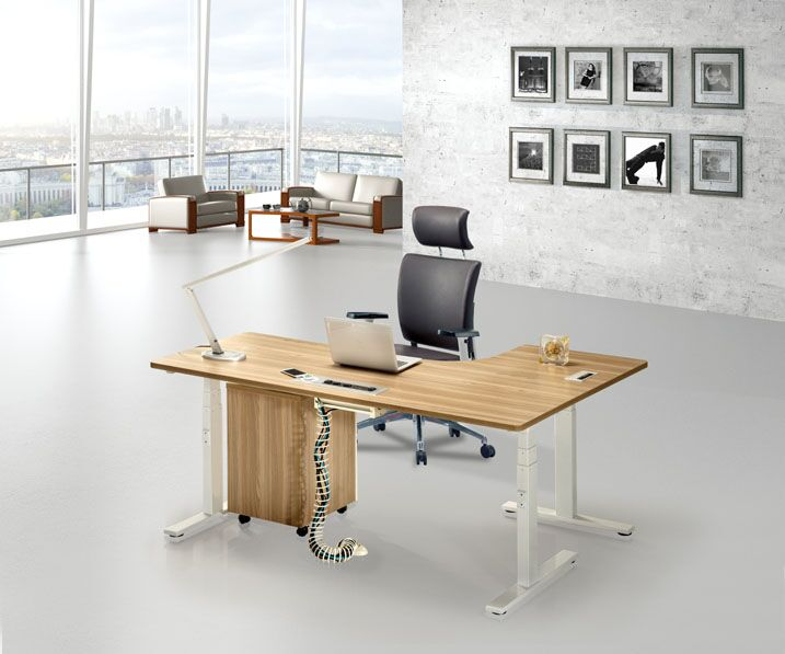 Electric Height Adjustable Office Desk Office Computer Table Metal Frame Office  Desk Design