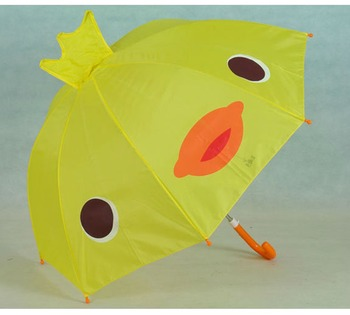 18inch 8k small staight yellow umbrella kids