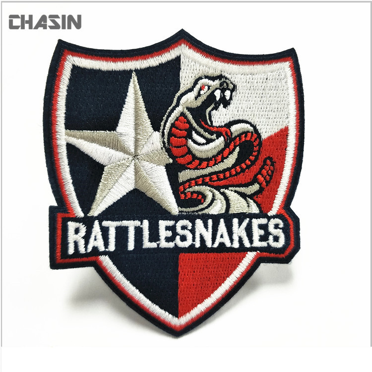 Quality custom embroidery emblem embroidered military badge