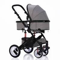 EN1888 Passed Quick Folding High landscape Luxury 3 in 1 baby stroller