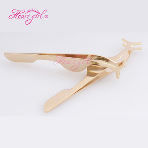 Custom Label Stainless Steel Gold Eyelash Tweezers