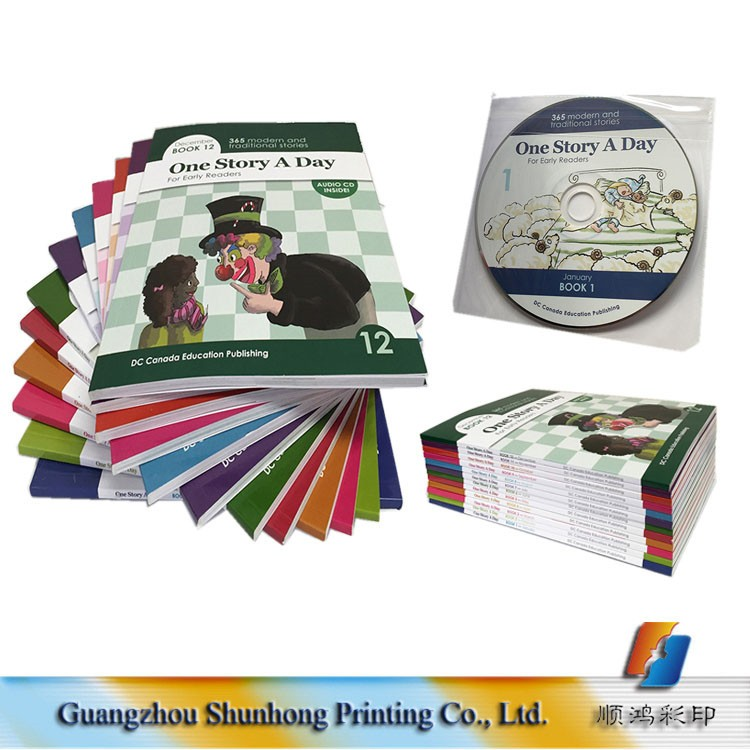 Softcover CD Story English Books Cheap Children Book Printing Wholesale