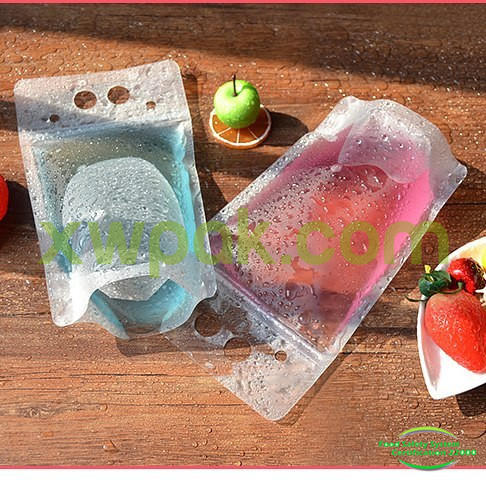 Stand Up Ziplock Packaging Bags For Food Snack Powder Storage Doypack Clear Mylar Drinking Pouch