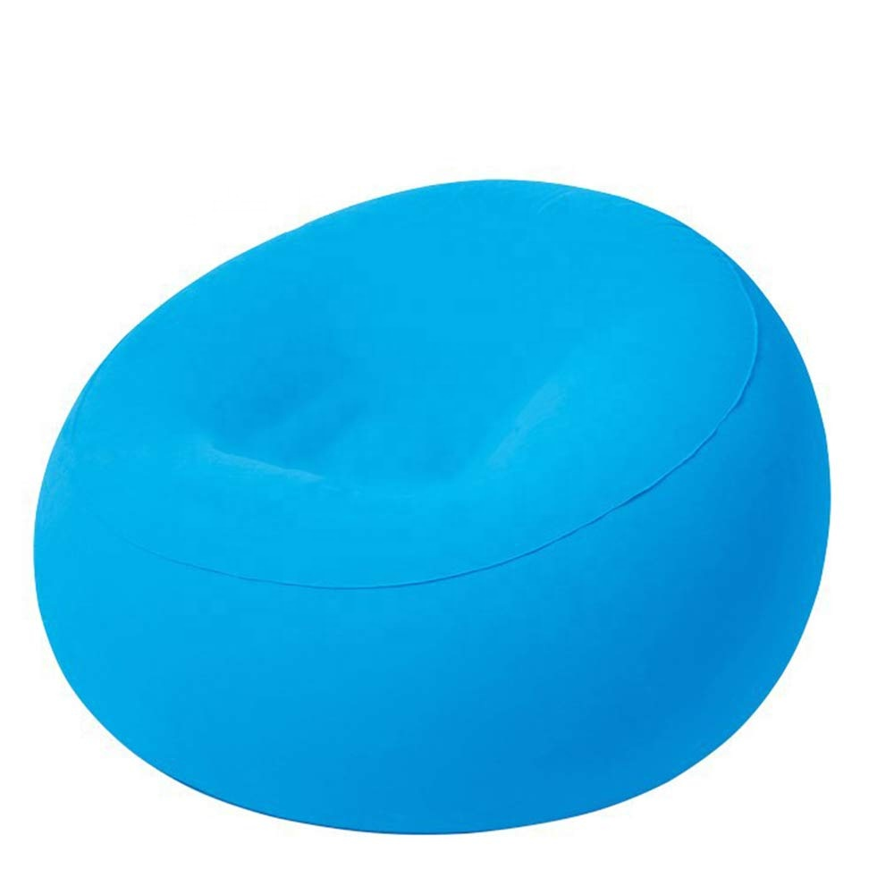 single soft flocking plastic inflatable bean bag chair