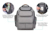 Adult baby diaper bag organizer baby back pack for mom/dad with stroller straps, changing pad & insulated pockets