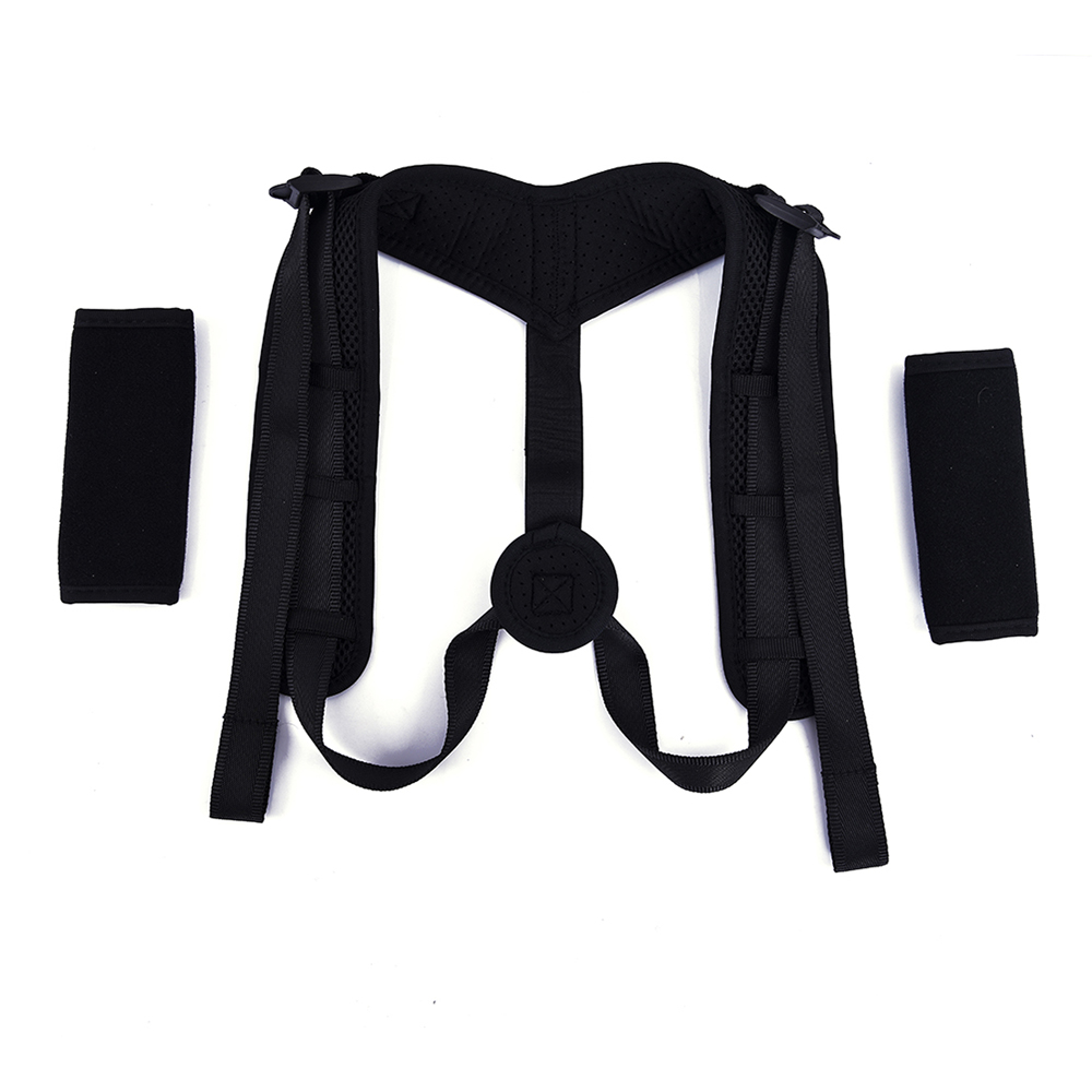 Free Size Adjustable Back Posture Corrector Brace Belt for Upper Back and Shoulder Pain Relief, Black or customized