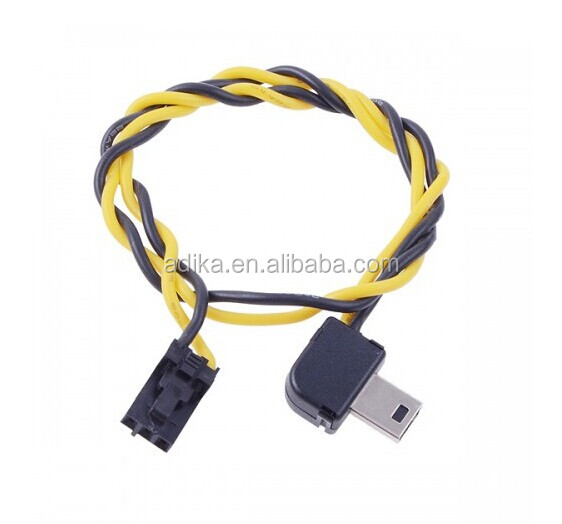 Right angle mini USB go pro cable for connecting go pro and transmitter ADK-GP160