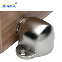 Factory Supply Magnetic Door Stop Catch,Stainless Steel Brushed Door Stopper Floor Mount