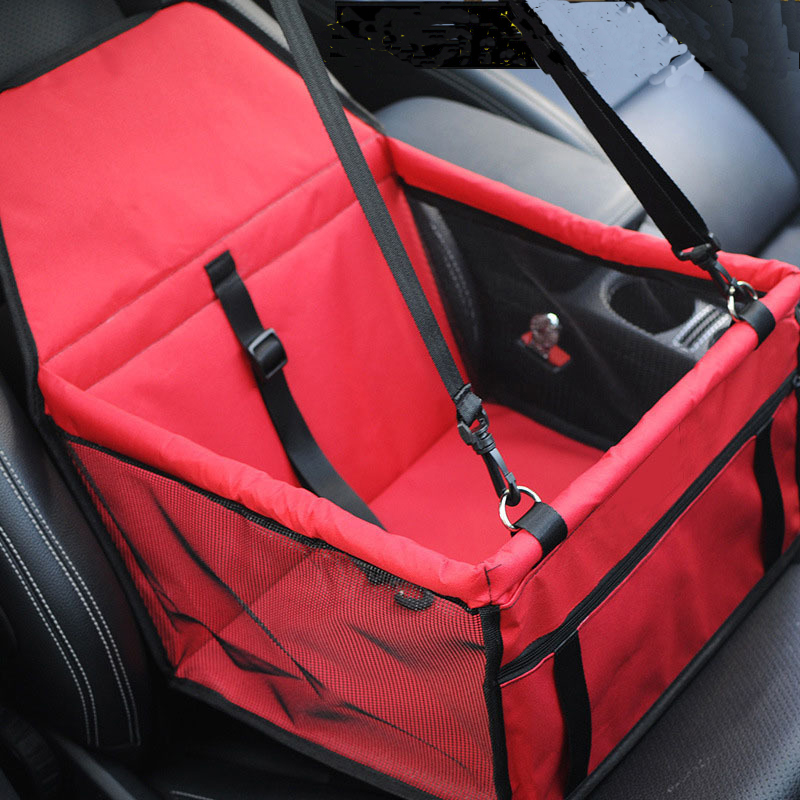 RoblionPet Car Booster Seat Carrier for Dog Folding Pet Cat Car Travel Safety Seat Belt Harness Cover Pet Traveling Carrier Bag