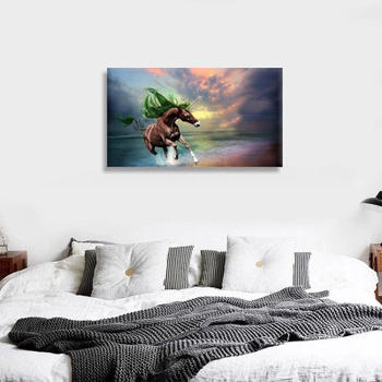 Unicorn Picture Printing Wall Art Led Light Up Canvas New Painting For Home Decoration Buy Painting Wall Art Led Canvas Painting Wall Art Home Decor