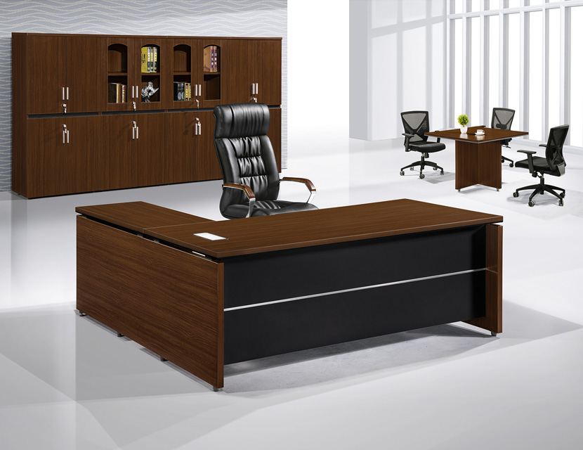 Latest wooden executive office table with side return
