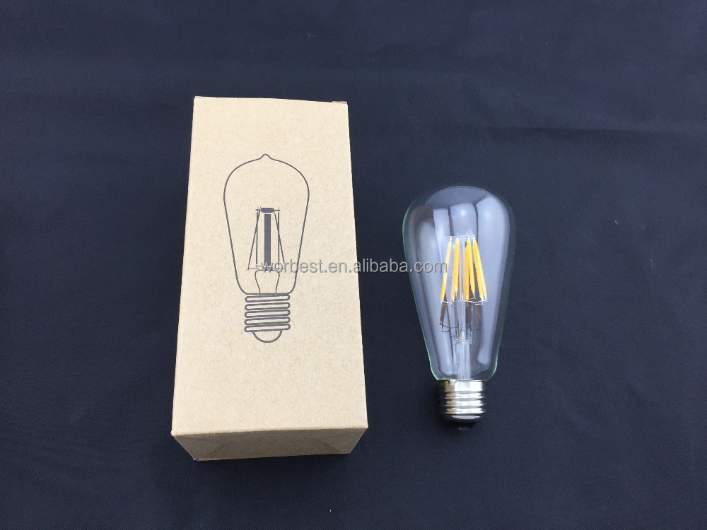 4w Vintage Led Filament Light Bulb,St64 Edison Style,120v,E26 ...