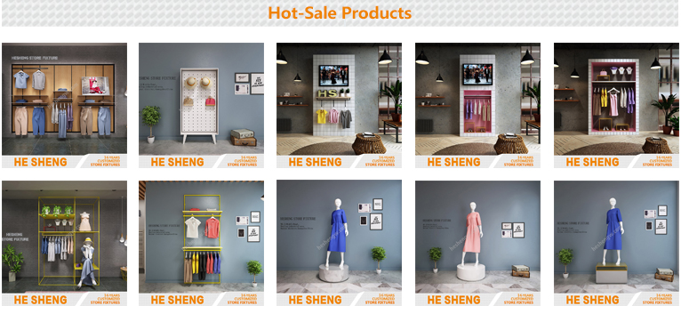 Tall rack .clothing store display fixtures. country style HB02G01