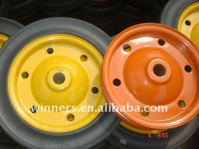 9 inch solid rubber wheel