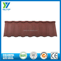 2016 hot products natural stone coated metal roofing tile