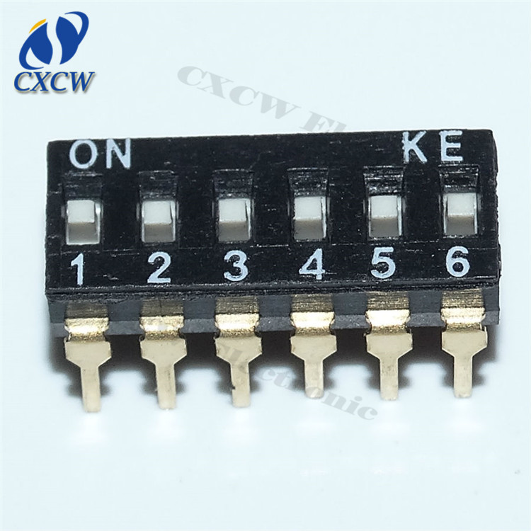DIP switches 6-way toggle switch 6 bit 2.54mm pitch dip-12 KE original