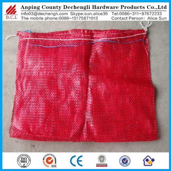 Hot sale good quality 50x80cm potato onion garlic PE mesh bag