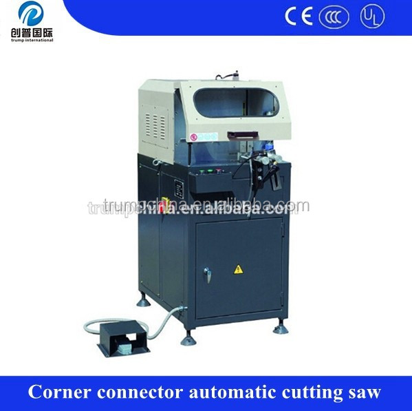 Aluminum cutting saw corner connector semi auto cut off saw