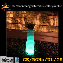Colorful waterproof technology Led Flower Pot,color Changing Planter / Light Up Outdoor Furniture