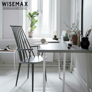 French style Industrial cafe furniture wooden windsor chair antique with armrest for modern dining room