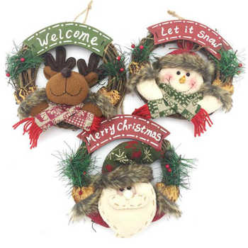 Christmas Ornaments Tortoise Wreath Door Hanging Ring Decorations