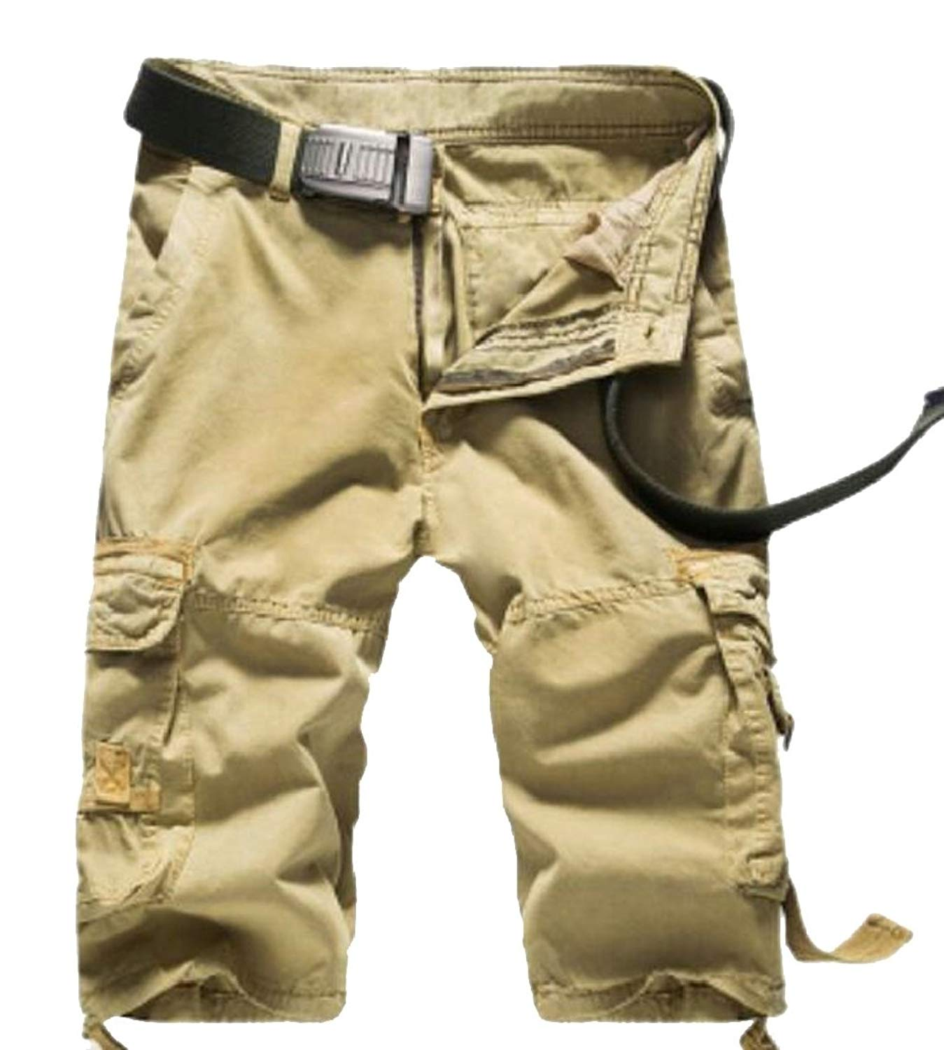2f018e1780 Get Quotations · lovever Cargo Shorts for Mens,Twill Multi-Pockets Solid  Color Cargo Shorts Outdoor Wear