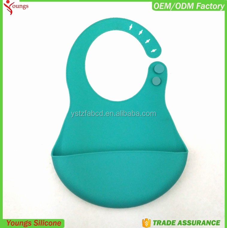 Customized logo pattern silicone bibs for adult and baby