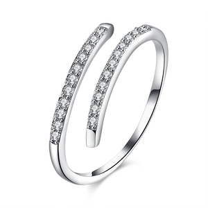 Fashion sterling 18k silver ring blanks wholesale jewellery brand