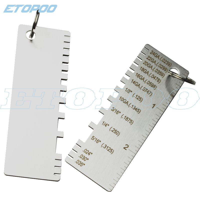 Wire//metal Sheet Gauge Material And Wire Thickness Gauge Welding Gage Tool USA