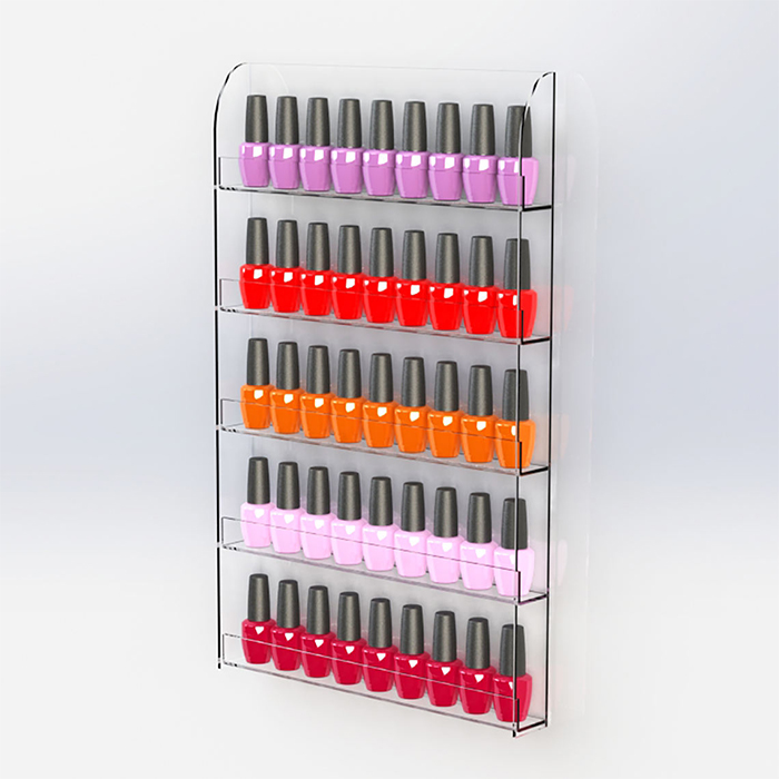Wall Mounted Nail Varnish Display, Clear Acrylic Nail Polish Holder