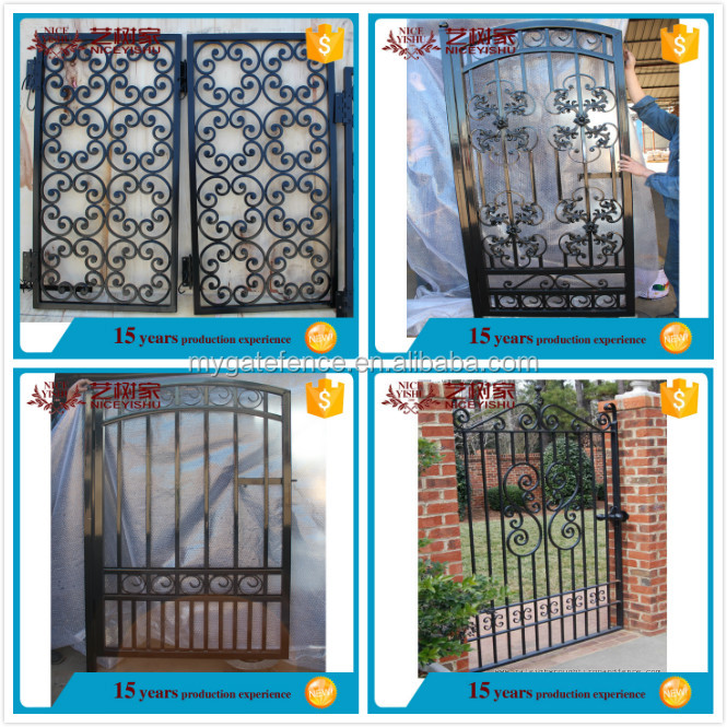 Hot Selling Small Used Wrought Iron Door Gates For