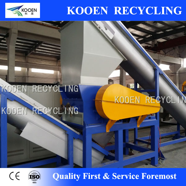 Top quality used pet hdpe bottle flakes washing recycling line