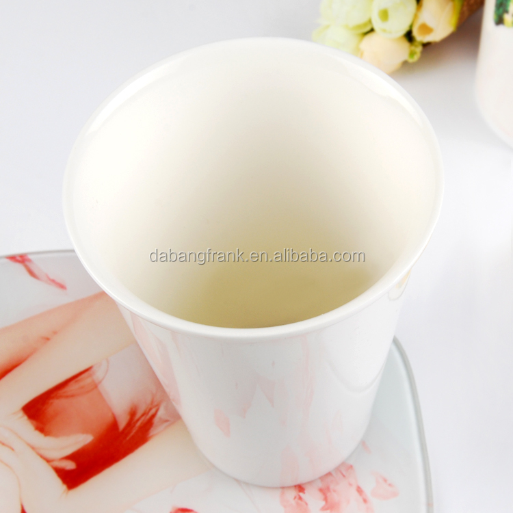 Yi wu 12oZ White ceramic cups and mugs sublimation