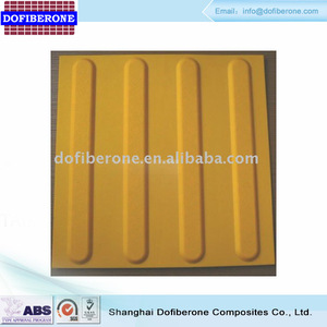 PU ADA tactile tile disc or corduroy top braille tile