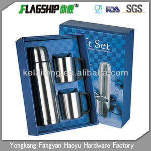 Stainless steel vacuum flask wholesale cheap set gift