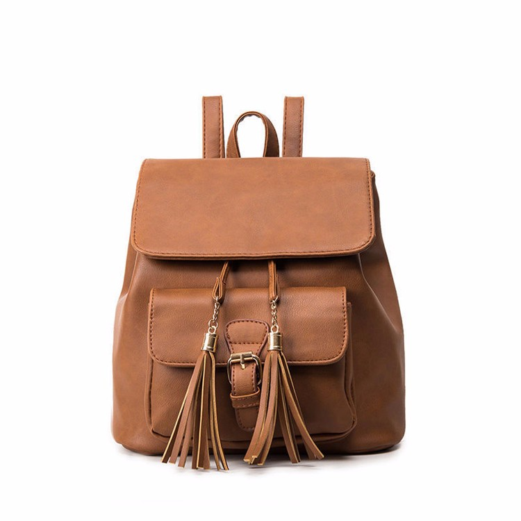 Fashion Leisure Women School Bag Backpack Travel Leather Bagpack