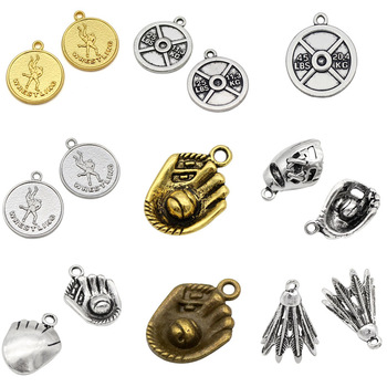 Barbell weight wrestling baseball mitt boxing glove shuttlecock barbell weight wrestling baseball mitt boxing glove shuttlecock badminton dumbbell barbell pendants charms for jewelry making aloadofball Image collections