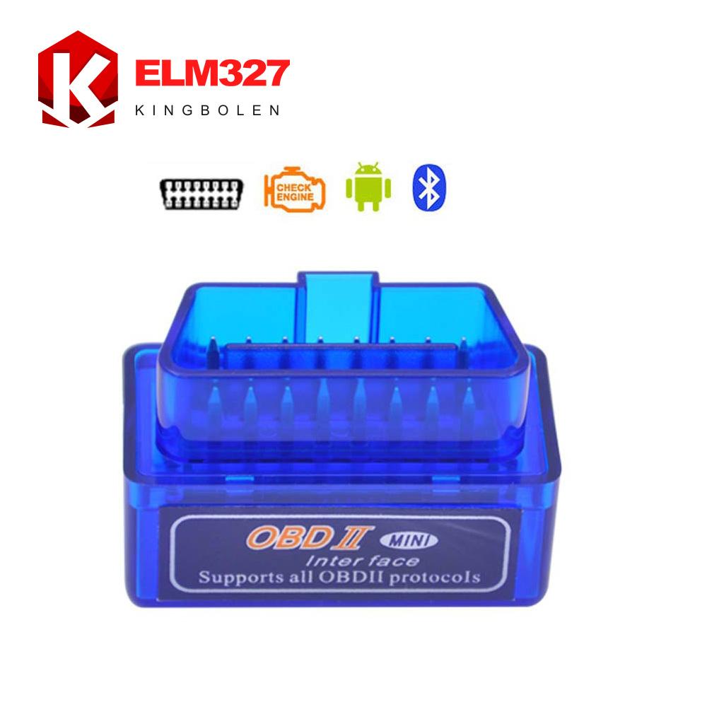 Сверхминиатюрной Bluetooth ELM327 V2.1 OBD2 / OBDII ELM 327 для android-крутящий момент автомобиль код адаптер бесплатная доставка