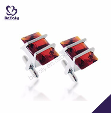 Rectangular red stone wholesale swank cufflinks value