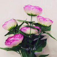 Hot sale wholesale artificial plastic flowers cheap silk flower rose flowers for home&garden decoration