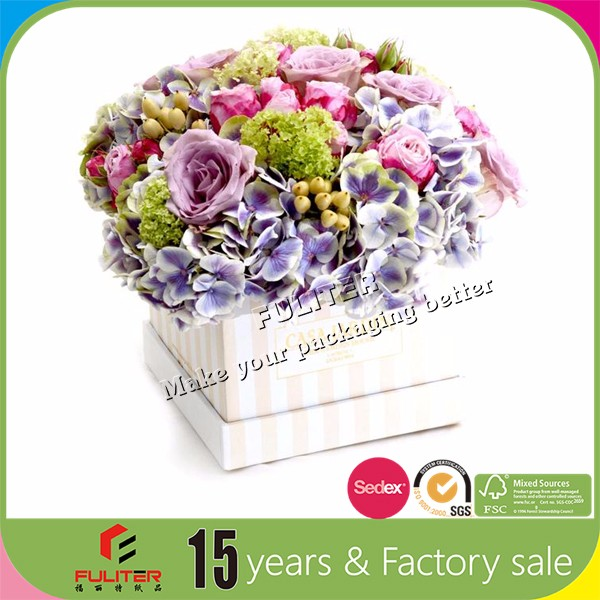 China suppliers round acrylic packaging box for flowers