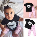 2016 Newborn Infant Kids Baby Girls Batman T shirt Pants Outfits Clothes Set