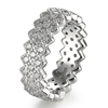 Kenturay Pave Round Stone Weave Rose Sterling Silver 925 Jewelry For Women Ring