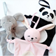 OEM Factory plush elephant baby blanket /panda doudou with blanket/Bunny blanket with high quality